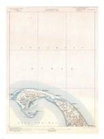 1900 U.S. Geological Survey Map of Provincetown, Cape Cod, Massachusetts 1900 Fine-Art Print