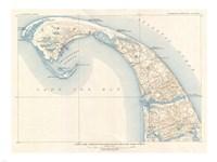 1908 U.S. Geological Survey Map of Provincetown, Cape Cod, Massachusetts1908 Fine-Art Print