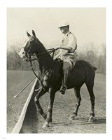 M.J. Waterbury, polo player Fine-Art Print