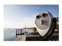 Close-up of coin-operated binoculars, Cape Cod, Massachusetts, USA Fine-Art Print
