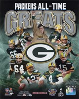 Green Bay Packers All Time Greats Composite Fine-Art Print