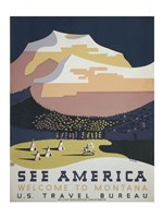 See America Welcome to Montana Fine-Art Print