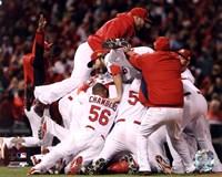 The St. Louis Cardinals Celebrate Winning World Series in Game 7 of the 2011 World Series (Celebration #2) Fine-Art Print