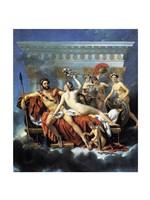 Jacques - Louis David Aphrodite Ares Graces Fine-Art Print