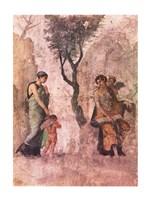 La punizione di Amore Aphrodite Pompeii mural Fine-Art Print