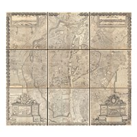 1652 Gomboust 9 Panel Map of Paris, France Fine-Art Print