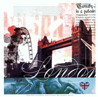 London Stamps - Mini Fine-Art Print