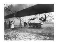 Zeppelin Landing in Presence of Count Zeppelin and Crown Prince Fine-Art Print