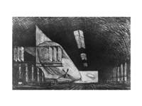 In the Zeppelin Shed, Leipzig Fine-Art Print