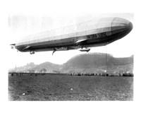 Zeppelin Airship LZ 11 Viktoria Luise on May 5, 1912 in Marburg Fine-Art Print