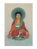 Buddha Sitting on a Lotus Fine-Art Print