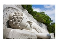 Statue of reclining Buddha, Long Son Pagoda, Nha Trang, Vietnam Fine-Art Print
