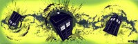 Doctor Who Tardis Taking Off Horiz. Wall Poster