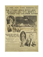 New York Herald front page about the Titanic Disaster Fine-Art Print