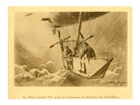 Gondola of the P II Reporting Arrival of a Wright flyer Fine-Art Print