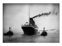 Titanic with Tugboats Fine-Art Print