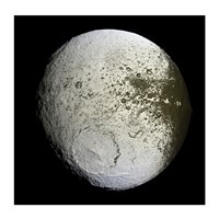 Saturn's Moon Lapetus Fine-Art Print