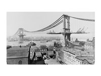 Manhattan Bridge Construction, 1909 far Fine-Art Print