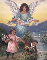 Black Guardian Angel Fine-Art Print