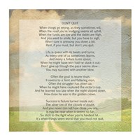 Don't Quit Poem (field) Fine-Art Print