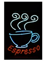 Glowing Neon Sign of an Espresso Coffee Cup Fine-Art Print