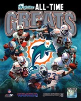 Miami Dolphins All Time Greats Composite Fine-Art Print