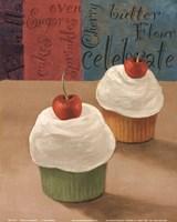 Cherry Cupcakes II Fine-Art Print
