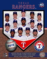 Texas Rangers 2012 Team Composite Fine-Art Print