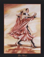 Dancers II (Red) Fine-Art Print