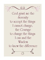Serenity Prayer quote Fine-Art Print