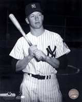 Mickey Mantle Posed Black And White Fine-Art Print