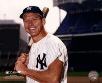 Mickey Mantle Posed With Bat Fine-Art Print