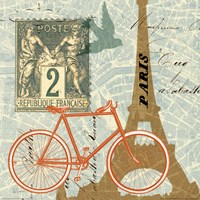 Postcard from Paris Collage Fine-Art Print