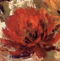 Fiery Dahlias II - Crop Fine-Art Print