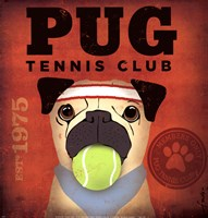 Pug Tennis Club Fine-Art Print