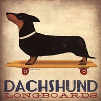 Dachsund Longboards Fine-Art Print