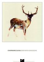 Deer Wearing Gym Socks Fine-Art Print