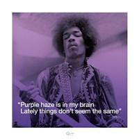 Jimi Hendrix- Purple Haze (lyric) Fine-Art Print