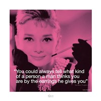 Audrey Hepburn- Earrings Fine-Art Print