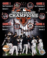 San Francisco Giants 2012 World Series Champions PF Gold Composite - Limited Edition Fine-Art Print