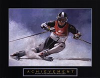 Achievement - Skier Fine-Art Print
