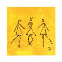 Joy - Yellow Dancers Fine-Art Print