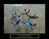 Teamwork-Skydivers II Fine-Art Print