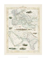 Overland Routes- India & China Fine-Art Print