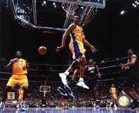 Kobe Bryant & Shaquille O'Neal 2001 NBA Finals Action Fine-Art Print