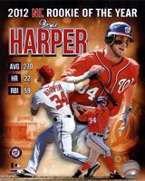 Bryce Harper 2012 National League Rookie of the year Composite Fine-Art Print