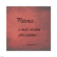 Patience Proverbs 19:11 Fine-Art Print
