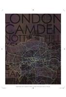 Neon Map I Fine-Art Print