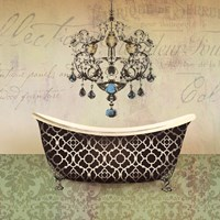 French Vintage Bath I - Mini Fine-Art Print