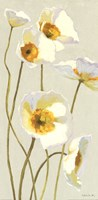 White on White Poppies Panel I Fine-Art Print